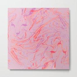 Adrift - Abstract Suminagashi Marble Series: 01 Metal Print