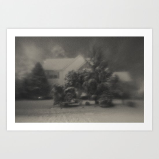 Home Covered in Snow Art Print