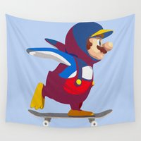 skate Wall Tapestries featuring Mario Skate  by tshirtsz
