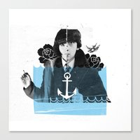 submarine Canvas Prints featuring Submarine by canthaid