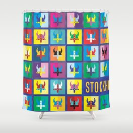 viking stockholm Shower Curtain