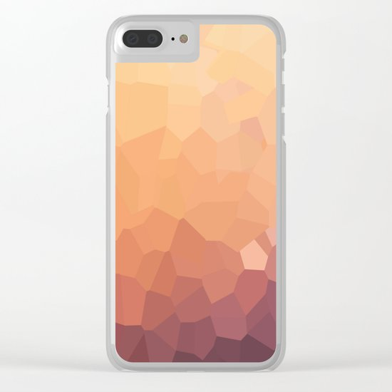 Fire Moon Love Clear iPhone Case