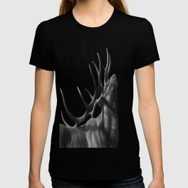 Elk in Black in White T-shirt