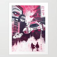 blade runner Art Prints featuring Blade Runner by Noah MacMillan