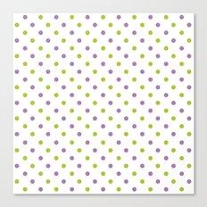 Fun Dots purple green Canvas Print