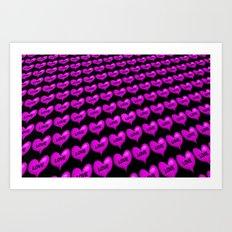 I Heart you like crazy! Art Print