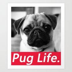 PUG LIFE BOX Art Print