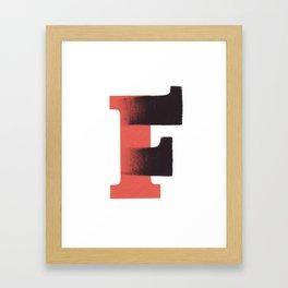 100 Days of Hybrid Type: F Framed Art Print