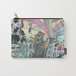 """""""Winter""""  Illustrated print. Carry-All Pouch"""