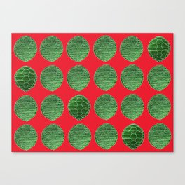 Turtle Shell Red Canvas Print