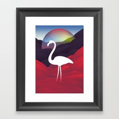 Paper Flamingo in Tibet Framed Art Print