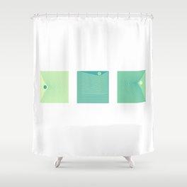 Triptique Minimaliste Shower Curtain
