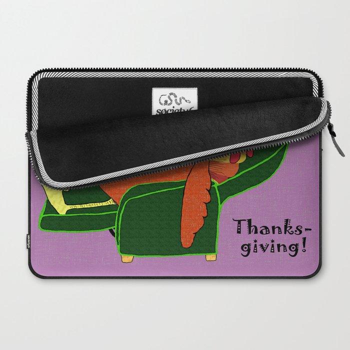 Sleeping Turkey with Pumpkin Pie Laptop Sleeve
