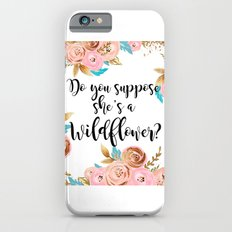 Blush and gold wildflower Slim Case iPhone 6