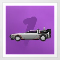 Back to the Future DeLorean 1 - alt Art Print