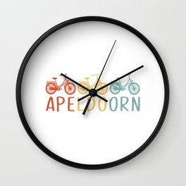 Apeldoorn Retro Bicycle Souvenir TShirt Dutch Flag Shirt Netherlands Cycling Gift Idea  Wall Clock