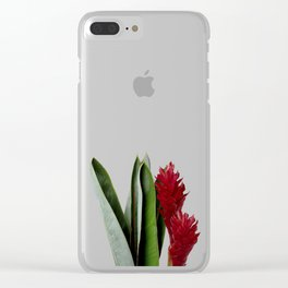 Red Flower Clear iPhone Case