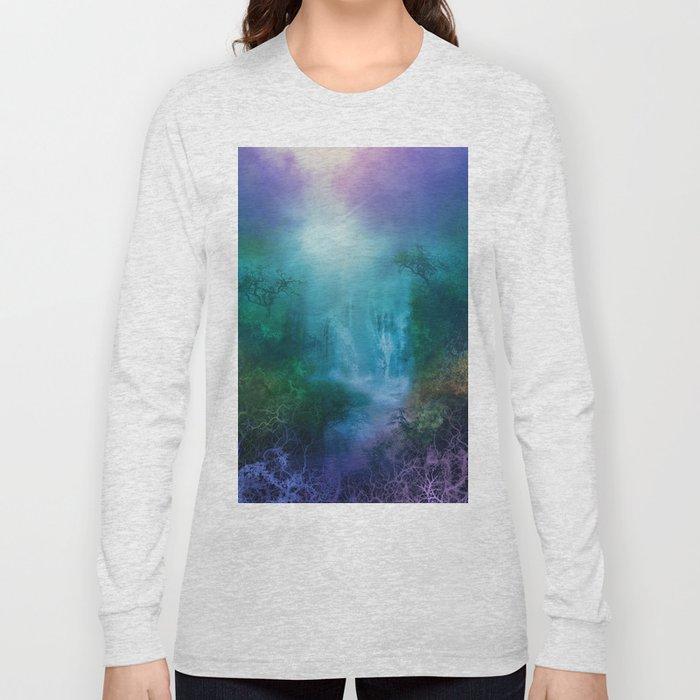 purple forest landscape Long Sleeve T-shirt