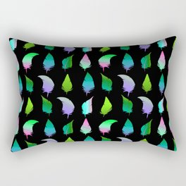 Feather pattern Bright Green Rectangular Pillow
