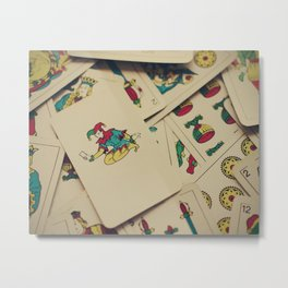 Spanish playing cards Metal Print