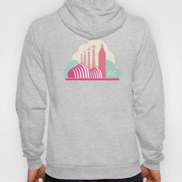 Kansas City in the Clouds - Pink Hoody