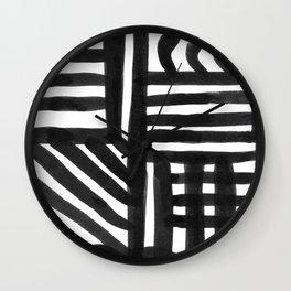 Ink Pattern Wall Clock