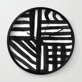 Ink Pattern Wall Clock