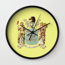 Flag of New Jersey Wall Clock