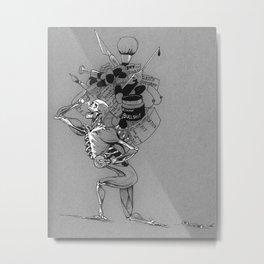 Sisyphus Metal Print