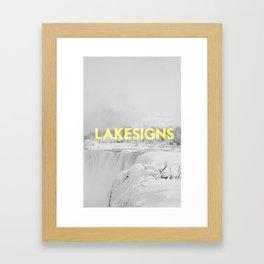 Lakesigns Poster - Darkroom, 2.16.2012 Framed Art Print
