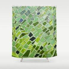 New Growth Mosaic Shower Curtain