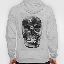 Black And White Skull by Sharon Cummings Hoody