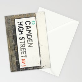 Camden High Street Sign Stationery Cards