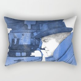 "Fellini ""blue"" Rectangular Pillow"
