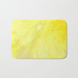 Abstract Yellow Sun by Robert S. Lee Bath Mat
