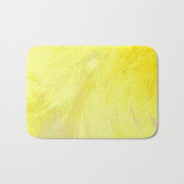 Abstract Yellow Sun by Robert S. Lee Bath Mat