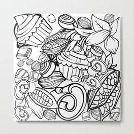 Chocolate Heaven by Lorloves Design Metal Print