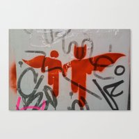super heroes Canvas Prints featuring Super Heroes by Mauricio Santana