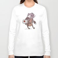 rocket raccoon Long Sleeve T-shirts featuring Rocket by Charleighkat