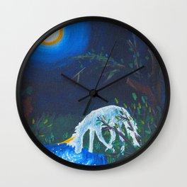 Unicorn and Pond Acrylic Painting Wall Clock