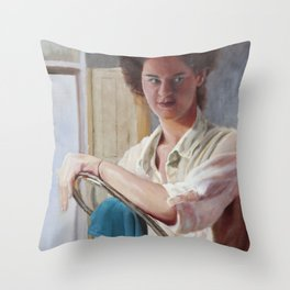 Wiping Up Throw Pillow