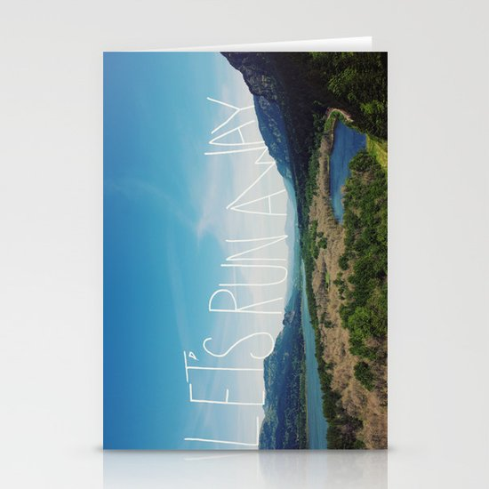 Let's Run Away: Columbia Gorge, Oregon Stationery Cards
