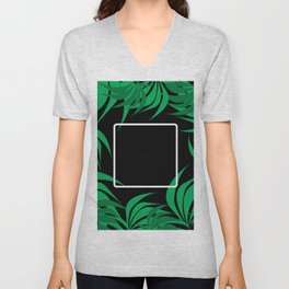 Square Leaf Unisex V-Neck