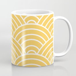Yellow Japanese Seigaiha Wave Coffee Mug