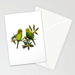 Budgies in Kumquat Tree Stationery Cards