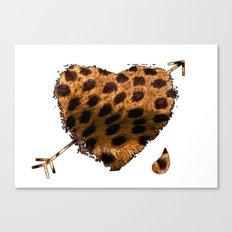 CHEETING HEART Canvas Print