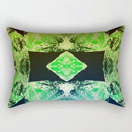 Green Mandala-Heart Chakra Rectangular Pillow
