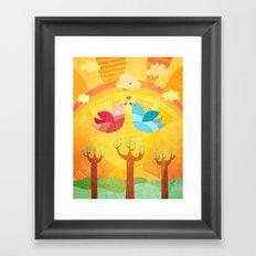 L'Amour... Framed Art Print