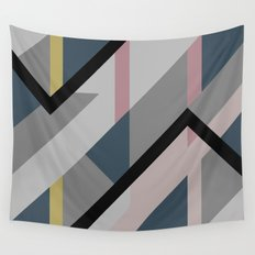 Modernist Dazzle Ship Camouflage Design Wall Tapestry