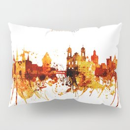 Lucerne Switzerland Red Yellow Skyline Pillow Sham
